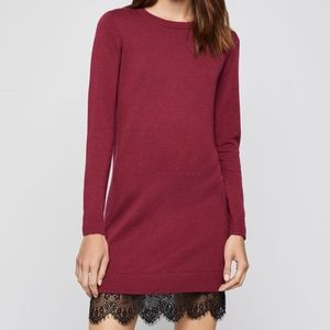 BCBG Generation.Lace-Trimmed Sweater Dress.NWT!